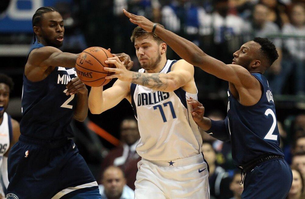 VIDEO   Luka Doncic tõusis teises NBA mängus Dallase liidriks ning vedas Mavsi väärt võiduni