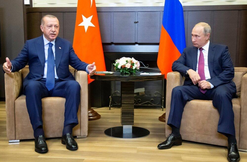 Putin ja Erdoğan leppisid kokku demilitariseeritud tsooni loomises Süüria Idlibi provintsis