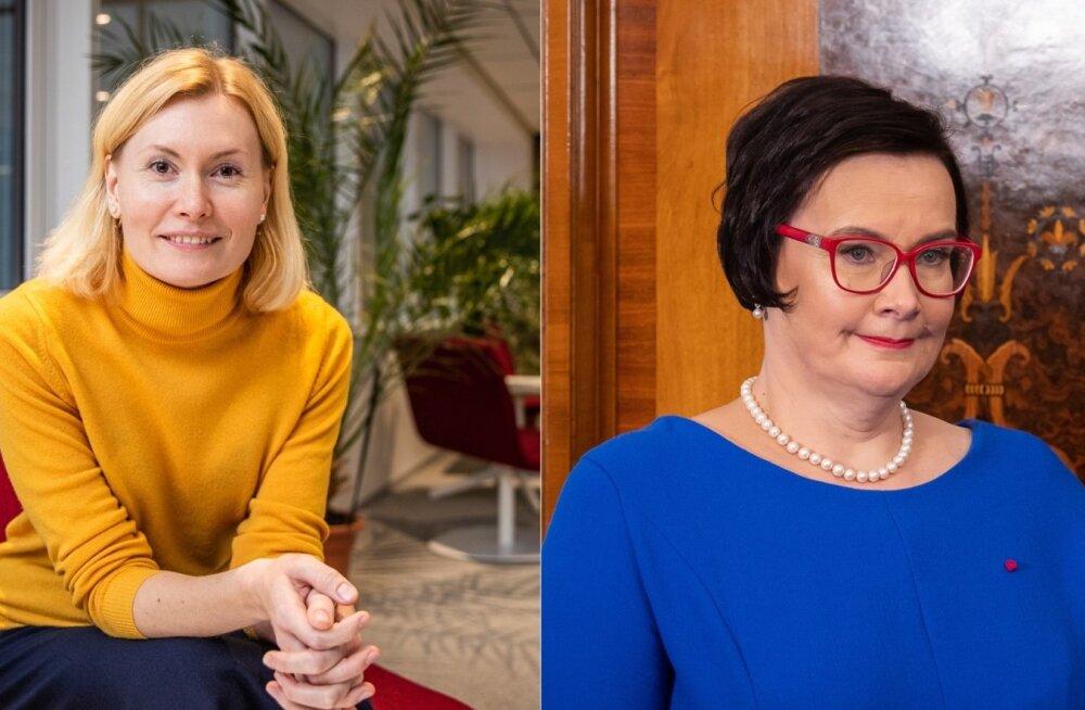 Riina Sikkut ja Katri Raik