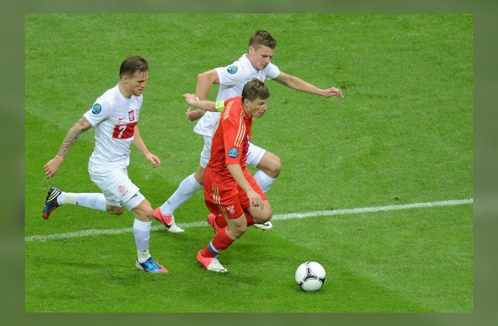 Aršavin (Venemaa) mängus Poolaga