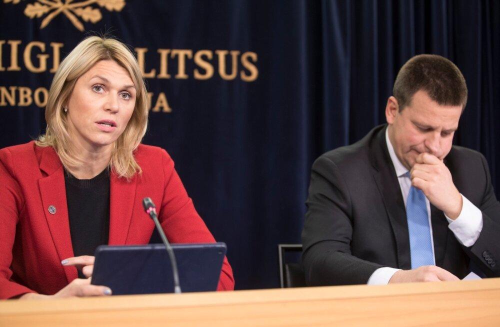 Valitsuse pressikonverents. Urve Palo ja Jüri Ratas