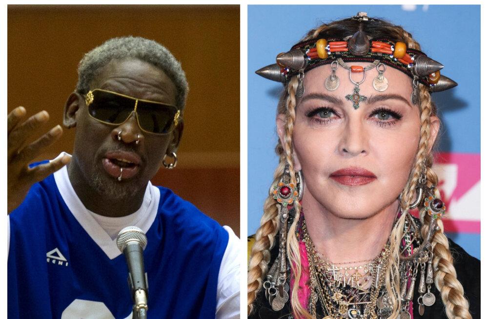 Dennis Rodman meenutab suhet Madonnaga: ütles, et ei lase mind enam toast välja