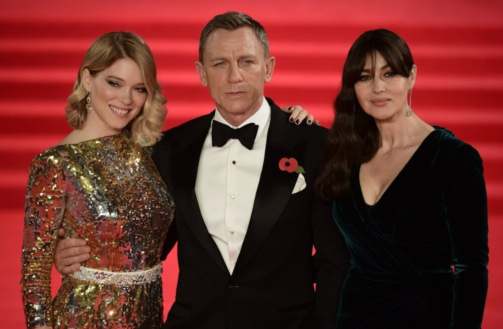"""Spectre"" esilinastus Londonis: Lea Seydoux, Daniel Craig ja Monica Bellucci"