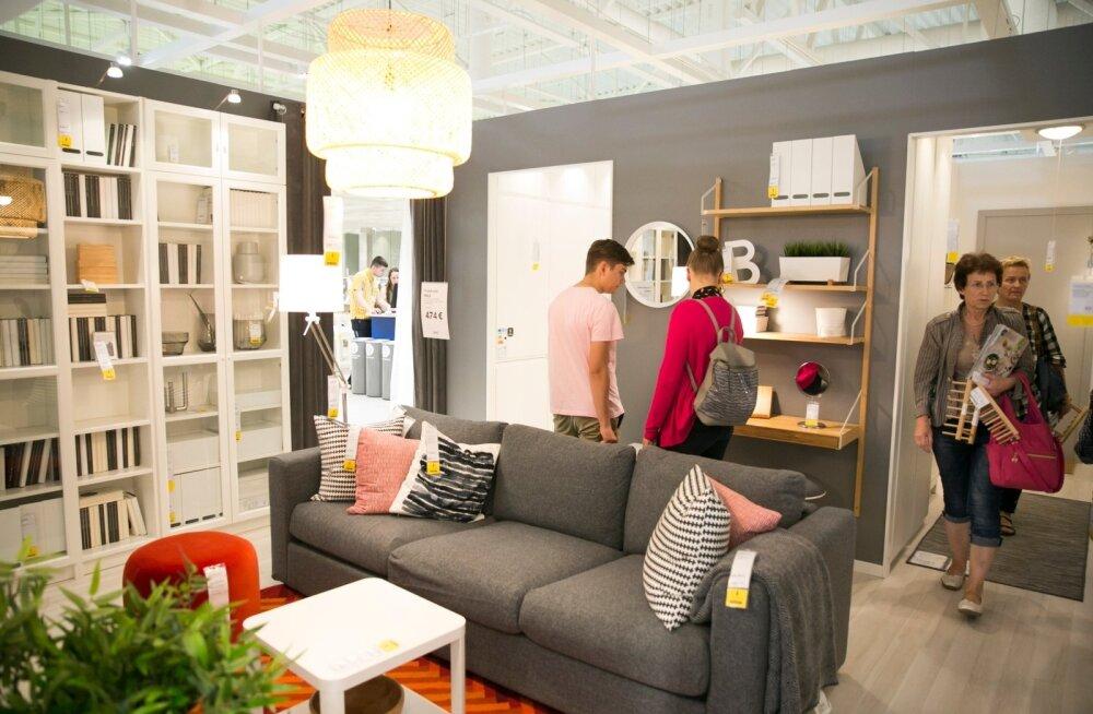 Leedu väljastuspunkti näidistesaaliga samalaadne väljapanekuruum hakkab sügisest asuma ka IKEA Eesti väljastuspunktis Peterburi teel.