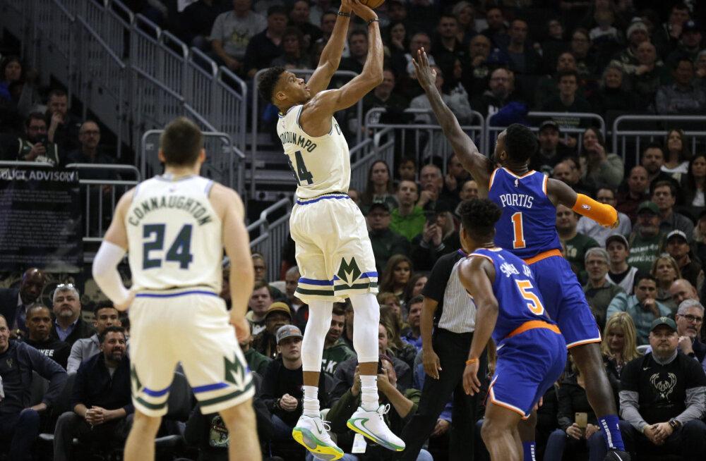 VIDEO | NBA-s vahetus liider, Antetokounmpo kogus 22 minutiga võimsad numbrid