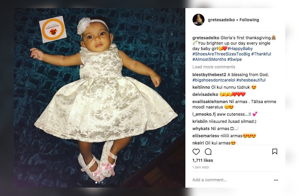 FOTOD | Nunnuhoiatus! Grete Šadeiko avaldas beebist esimesed pildid, millel ka pisipiiga nägu näha