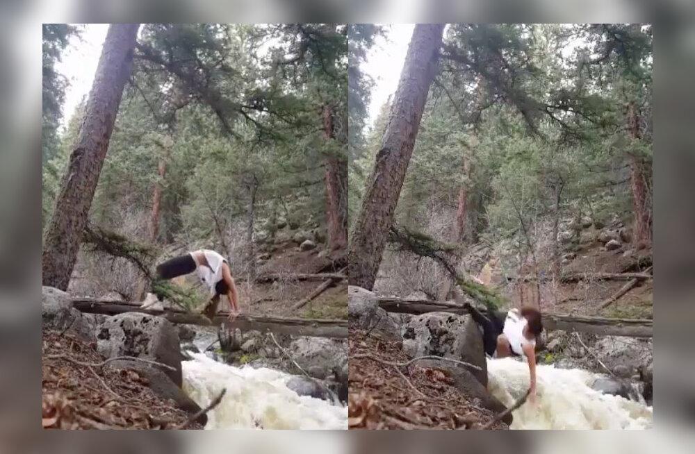 VIDEO | Joogateemalised Instagramid on täiesti üle visanud? Siis on see video jõkke kukkuvast naisest just sulle!