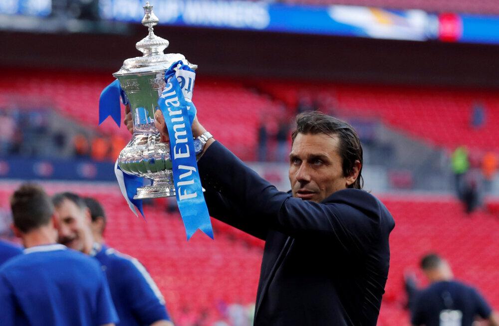 Antonio Conte võitis Chelsea`ga FA karika