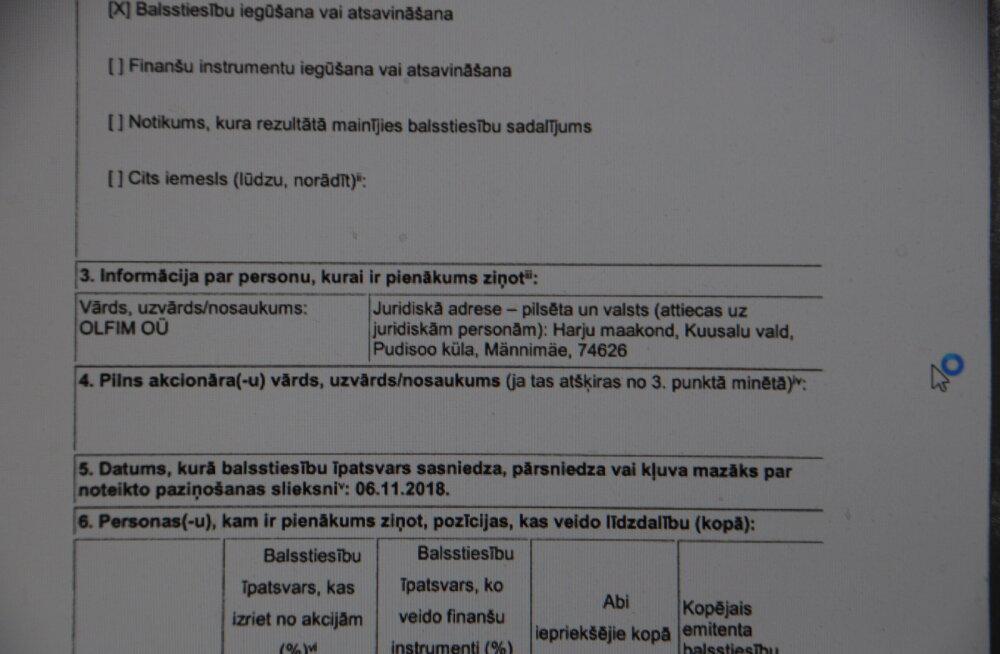 Läti ühe rikkama inimese pärija aktsiate jäljed viivad Pudisoo külla