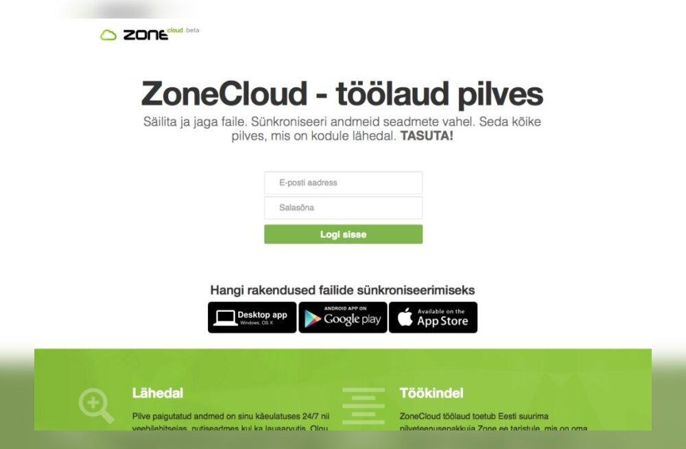 Zone.ee tõi turule kodumaise pilveteenuse