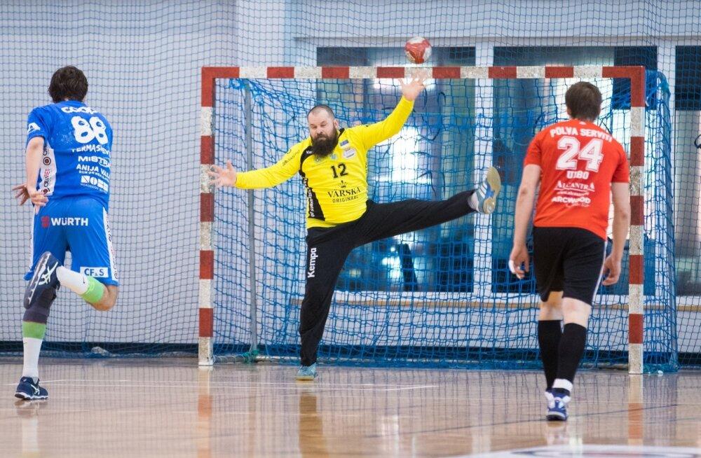 Käsipalli finaalseeria 2. mäng. Kehra - Põlva
