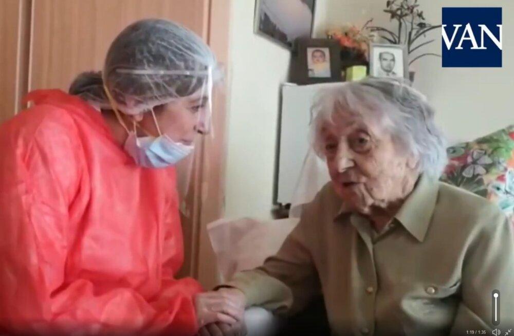 Koroonaviirusest paranes 113-aastane Hispaania vanim naine