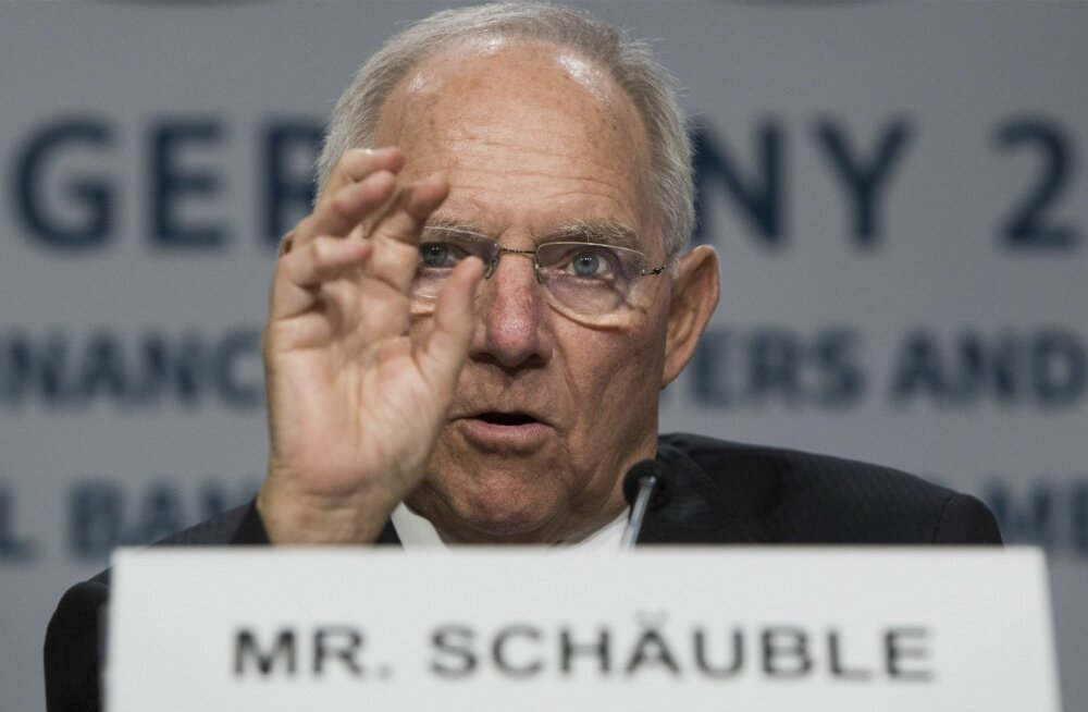 Saksamaa rahandusminister Wolfgang Schäuble