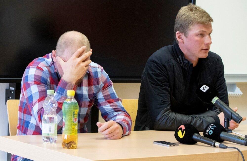Anti Saarepuu ja Karel Tammjärv pressikonverentsil Seefeldis
