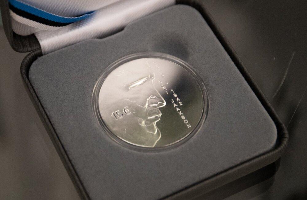 Eesti Panga hõbemündi esitlus