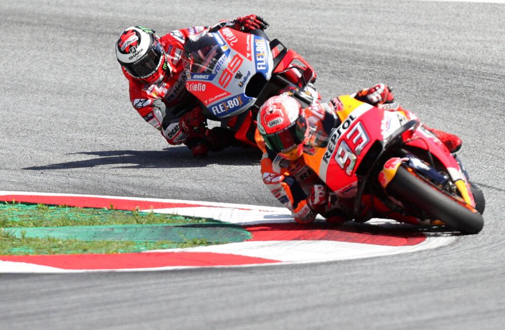 VIDEOD | Lorenzo ja Marquez pakkusid Austria GP-l vägeva duelli