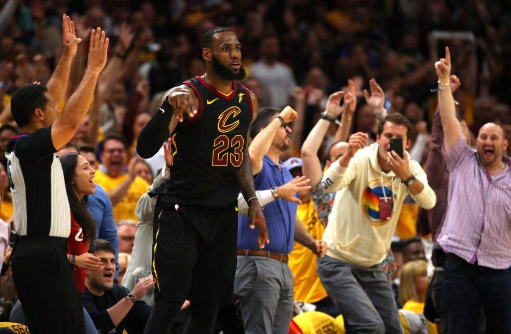 VIDEO | Jamesi 44 punkti vedasid Cavaliersi teise järjestikuse võiduni