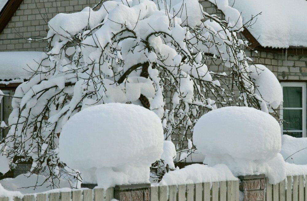 Lumi on hea kattematerjal.