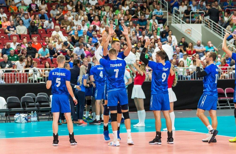 Võrkpalli EM-i valikmäng Eesti-Läti Riias 19.08.18