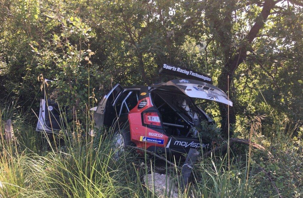 VIDEO | Venemaa ralliässa sõidu Itaalia ERC etapil lõpetas karm avarii