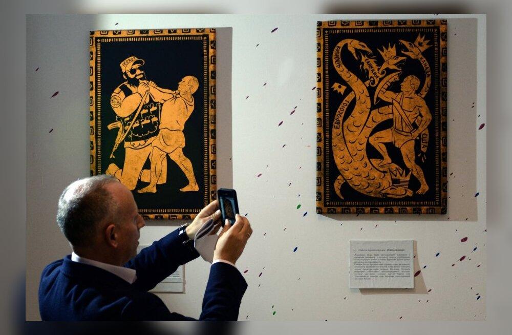 """FOTOD: Moskvas avati riigipea sünnipäeva puhul näitus """"Putini 12 vägitegu"""""""