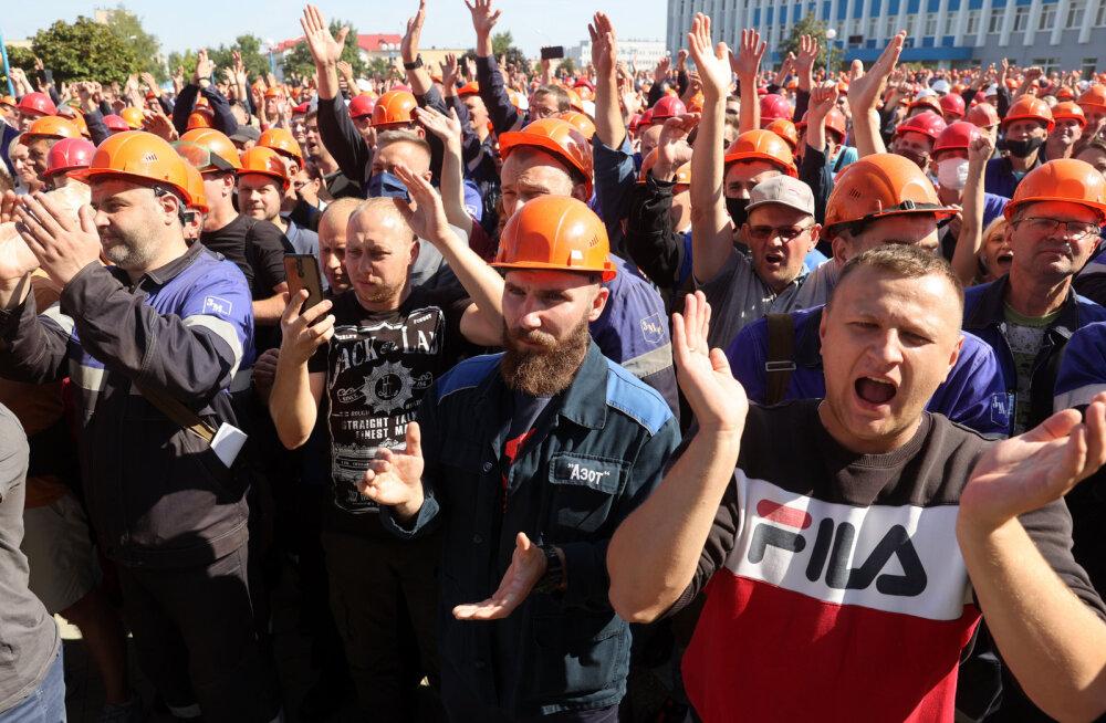 VIDEOD   Valgevene töölised streigivad Lukašenka vastu, teiste seas osalevad MAZ, MTZ, Belšina ja Astravetsi tuumajaam