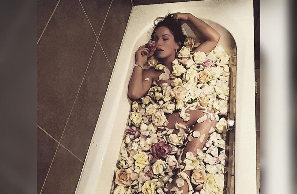 FOTO | Hea nipp! Silvia Ilves korraldas endale luksusliku vanniõhtu