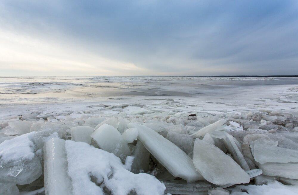 Vana-Pärnu rand talvel.