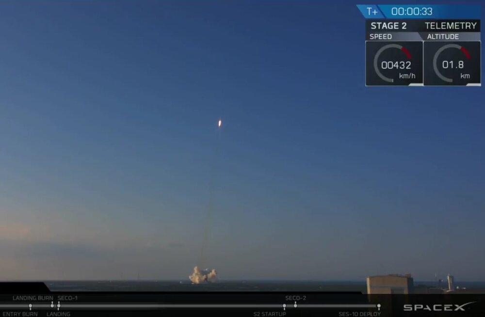 Õnnestumine! SpaceXi Falcon 9 sai täna öösel kosmoseajaloo esimeseks kaks korda üles lennanud kanderaketiks