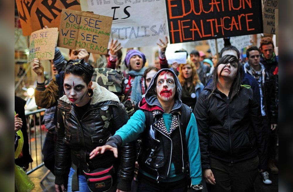 "Акция протеста ""захвати Уолл-стрит"" докатилась и до Москвы"