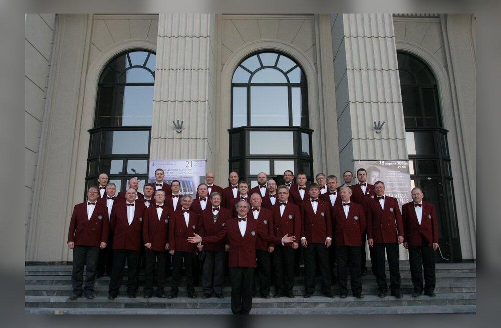 Haaslava Meeskoor Minski Filharmoonia ees. Foto: Natali Lindal