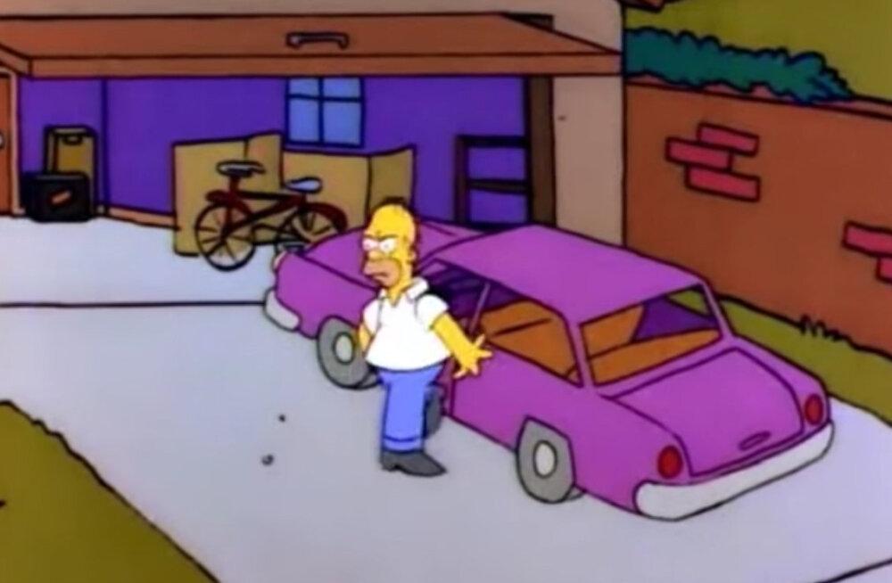 Lõpuks teada: LOE, millist marki autoga Homer Simpson oma perekonda ringi sõidutab