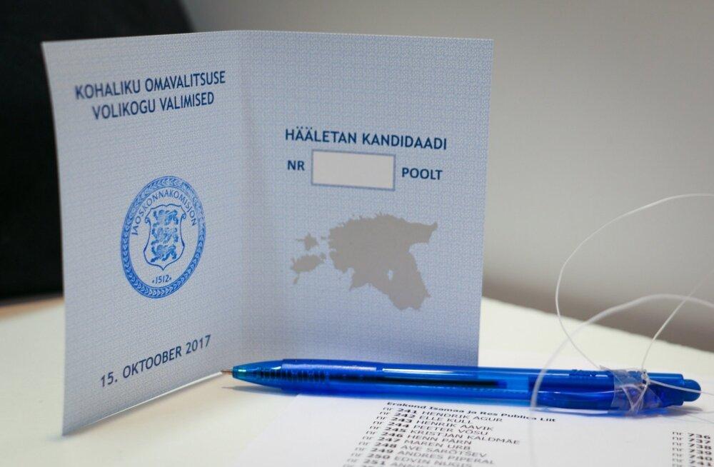 Valimissedel kohalike omavalitsuste valimised