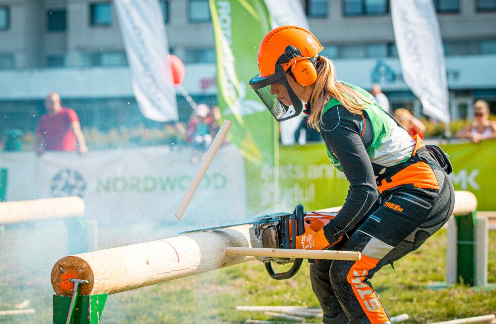 В субботу выяснится чемпион Эстонии по спортивной валке леса