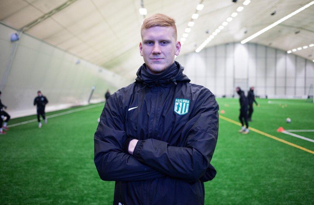 FC Flora mängumees Madis Vihmann