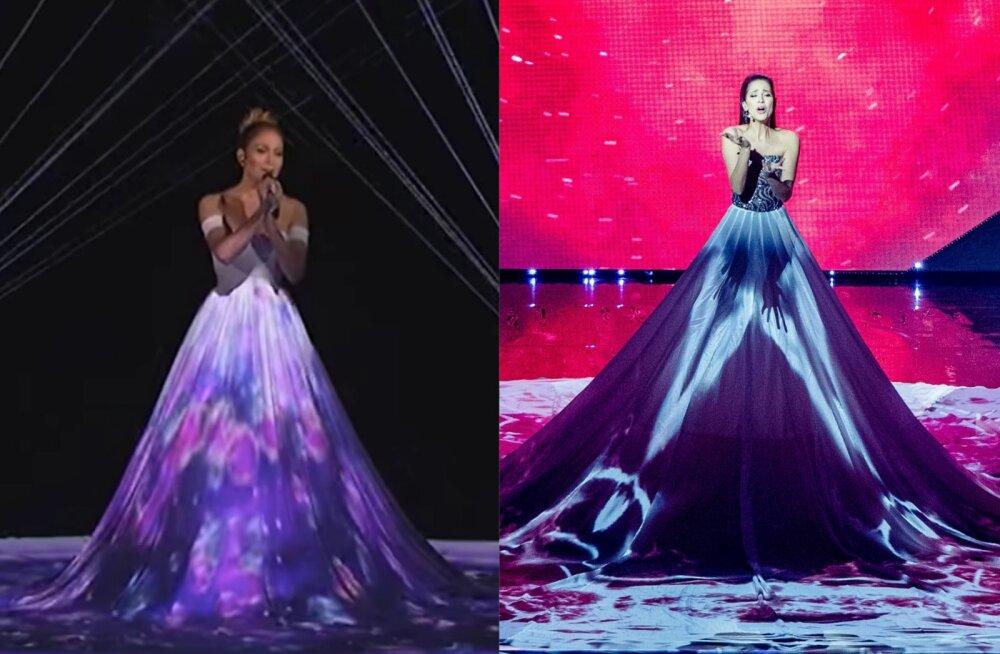 VIDEOD | Kummale sobib paremini? Jennifer Lopez tegi Elina Nechayeva kleiditrikki juba kolm aastat tagasi!