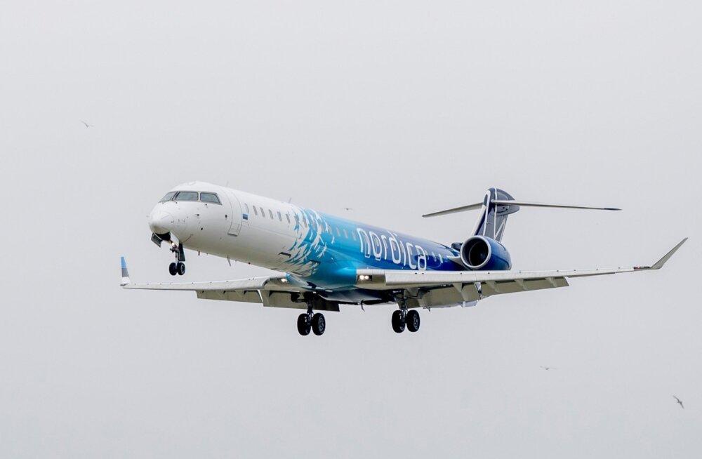 Nordica lennuk lennujaamas