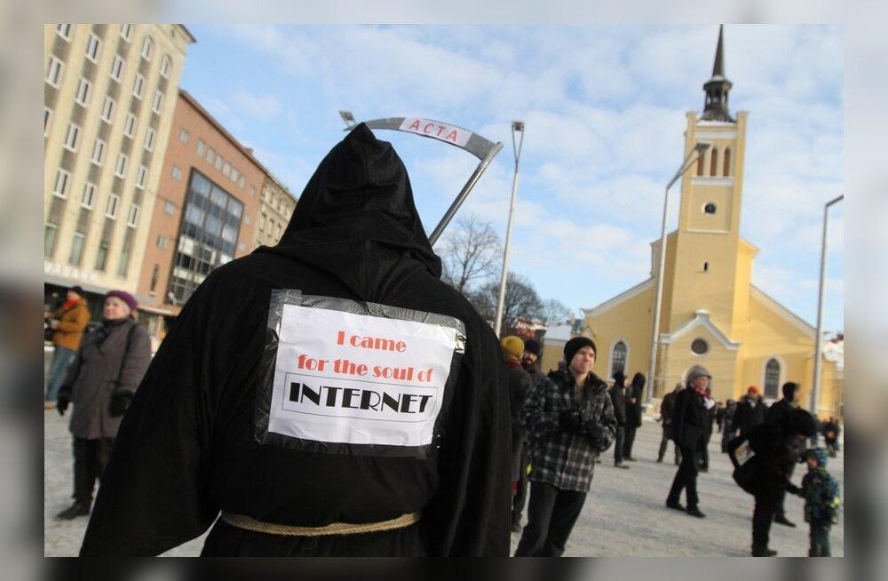 ACTA vastane meeleavaldus Tallinnas