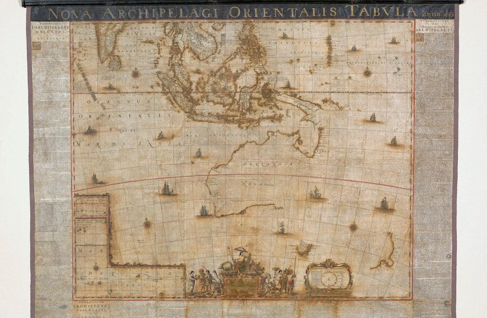 Tõeline haruldus: Austraalias taastati üks vanemaid kaarte, millel mandrit kujutatakse
