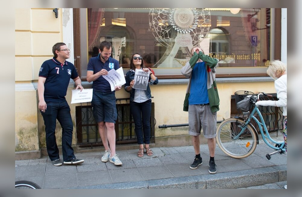Navalnõi toetuseks toimus 18. juulil meeleavaldus ka Vene saatkonna juures Tallinnas