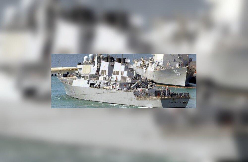 Sõjalaevad väljusid Korea RDV raketistarti jälgima
