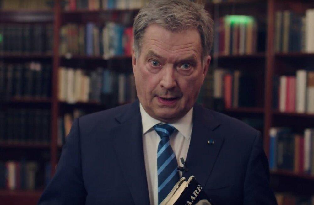 """ВИДЕО: Президент Финляндии поздравил ЭР отрывком из """"Правды и справедливости"""" Таммсааре"""