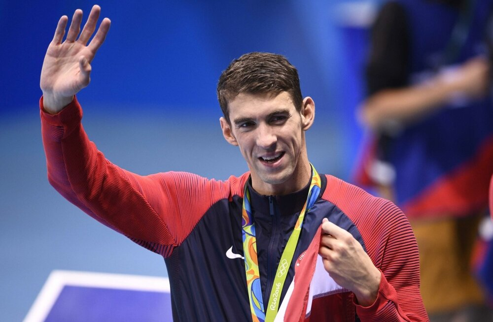 USA ujuja Michael Phelps.