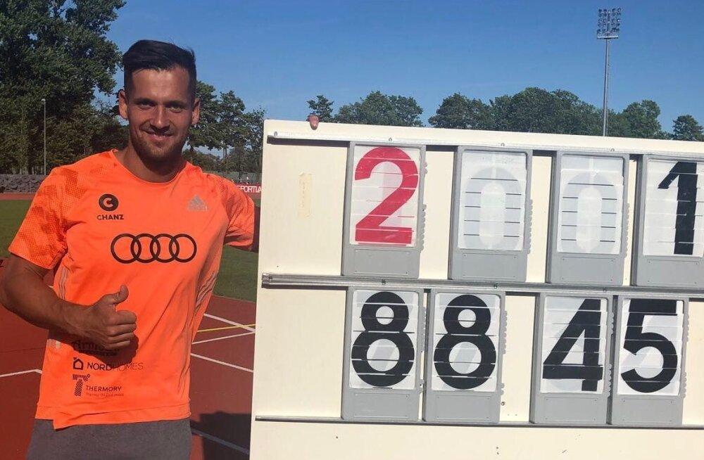 Magnus Kirt ja Eesti rekordit tähistav numbrikombinatsioon