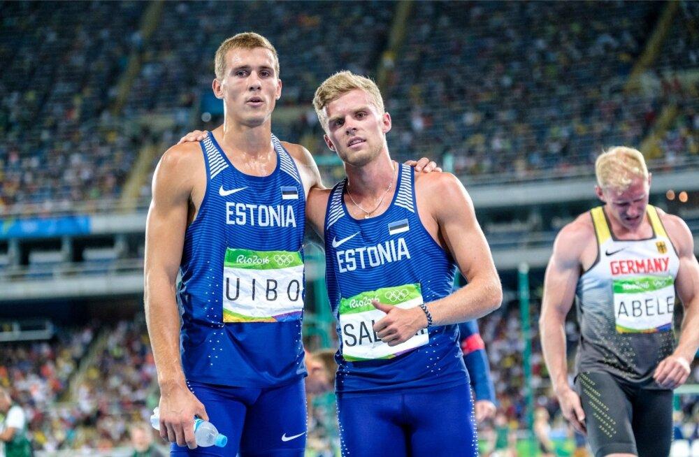 Kümnevõistleja Maicel Uibo (vasakul) hoiab maailma edetabelis 8315 punktiga 13. kohta, Karl Robert Saluri on 8108 punktiga 27. Olümpia luhtus mõlemal ning sügisest saab esimene 400 ja teine 250 euro suurust stipendiumi.