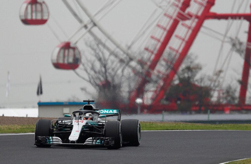 Hamilton võitis Jaapani GP esimese vabatreeningu, Ferraril polnud kiirust