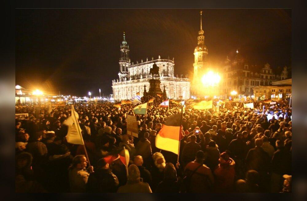 FOTOD ja VIDEO: Dresdenis toimus seni suurim immigratsioonivastane meeleavaldus