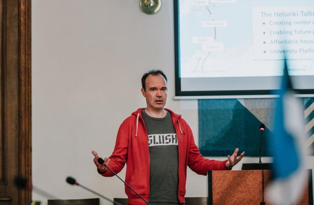 Peter Vesterbacka käis alles juunis Tallinna linnavolikogus tunneli rajamise toetusrühma koosolekul kõnelemas.