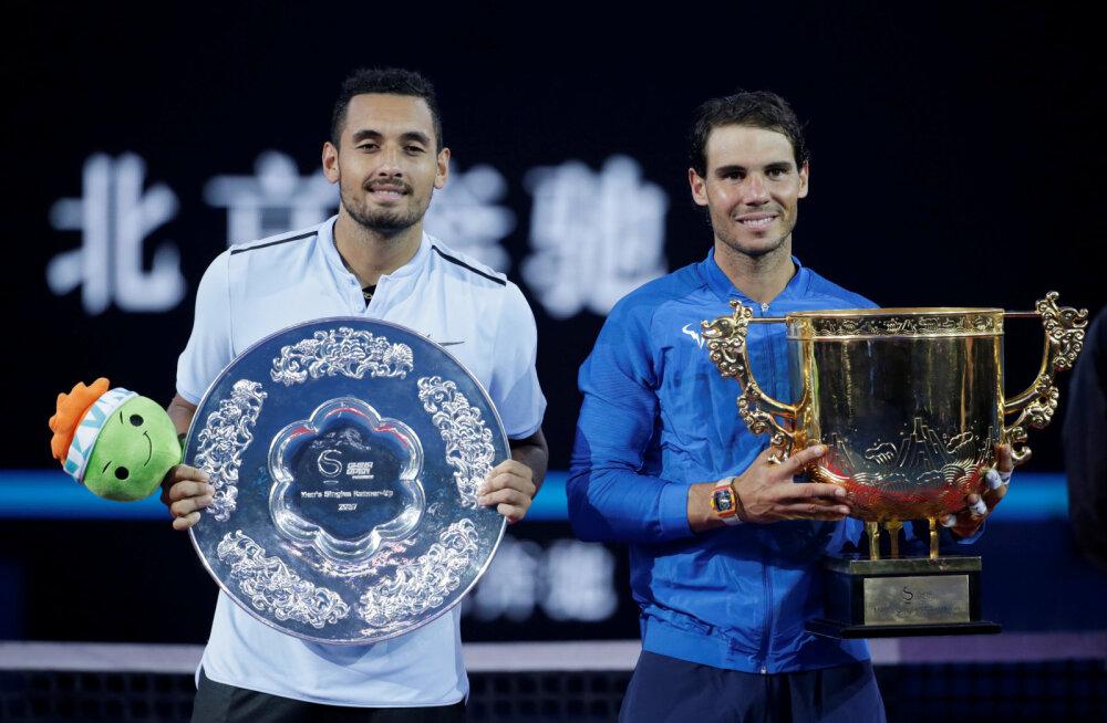 Taaskord tujutsenud Kyrgios kinkis Nadalile karjääri 75. turniirivõidu