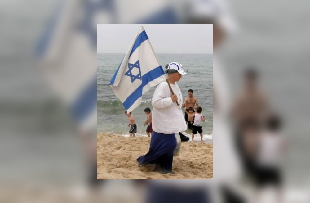 Poiss Iisraeli lipuga